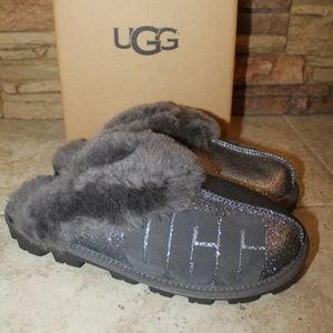 UGG COQUETTE SPARKLE SHEARLING SLIPPERS NEW!